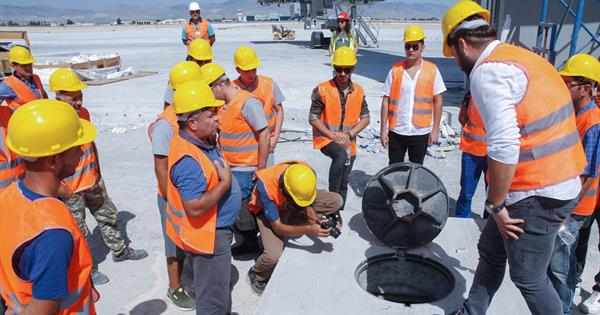 EMU – SCT Electrical and Electronics Students Pay a Technical Visit to the New Ercan Airport Construction Site